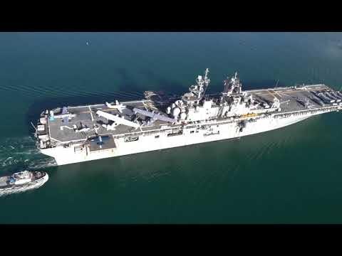 Warbirds arrive in Pearl Harbor on board USS Essex
