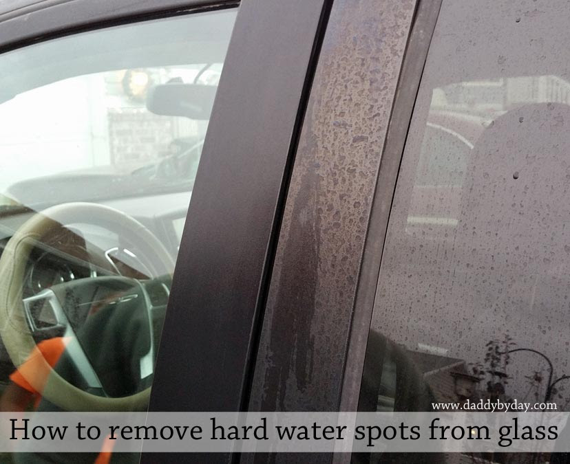 How to remove hard water spots from glass - Daddy by Day