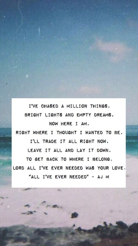 All I Ever Needed Is Your Love Lyrics