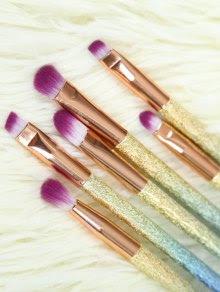 Glittler Eye Makeup Brushes Set - Rose Gold
