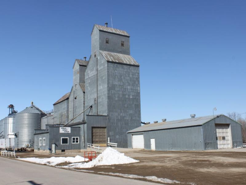 Grain elevator at Emerado North Dakota