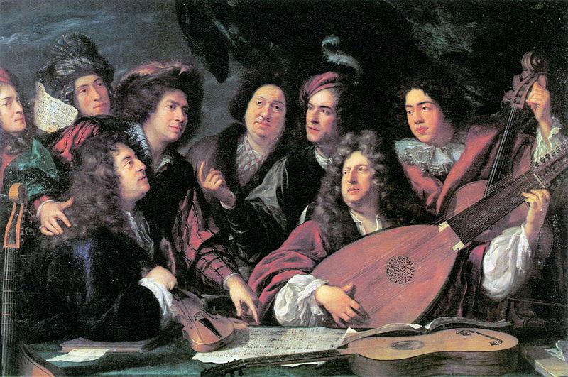 File:'Portrait of several musicians and artists' by François Puget 1688 - Brunel 1980 p31.jpg