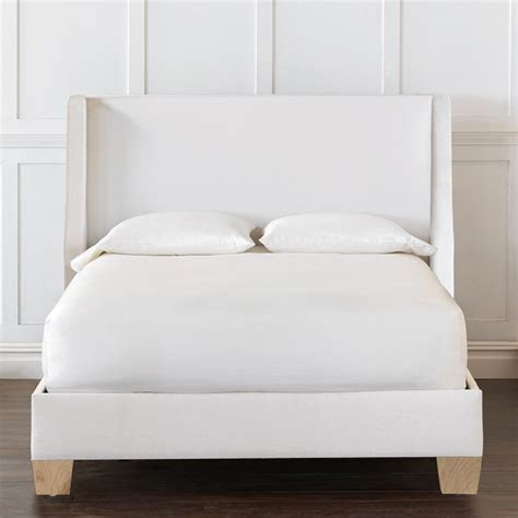 queen size pu leather bed frame arthur collection white