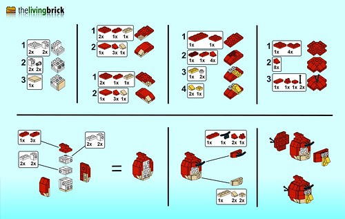 "LEGO Angry Bird ""Mini"" - Instructions"