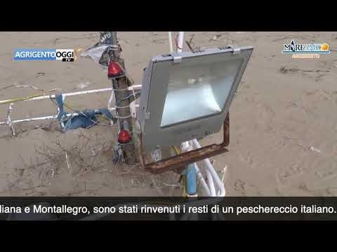 Torre Salsa, rinvenuti i resti di un peschereccio italiano -VIDEO