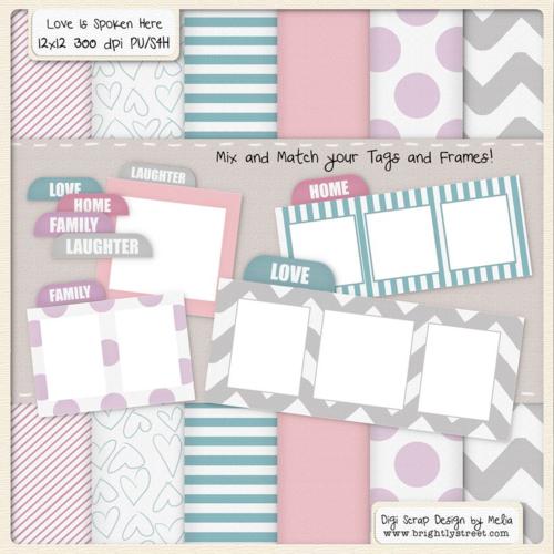 LDS Blog Train Digital Scrapbook Freebie Love