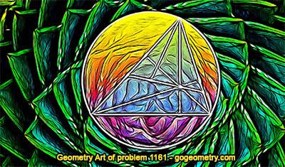 Geometric Art: Geometry Problem 1161, Triangle, Circle.