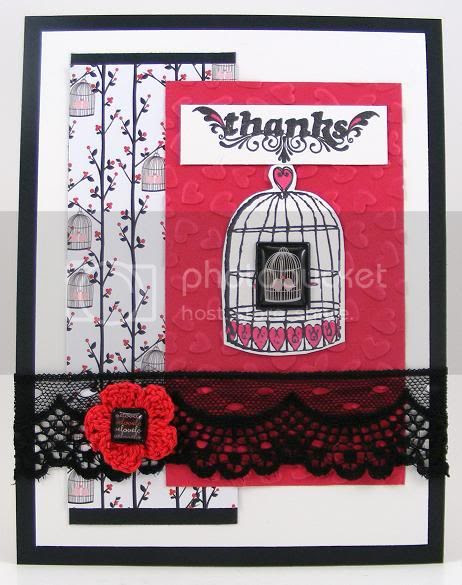 Birdcage Thanks Card