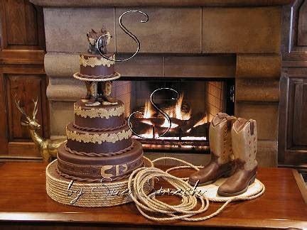 casual wedding dress: western wedding cake topper