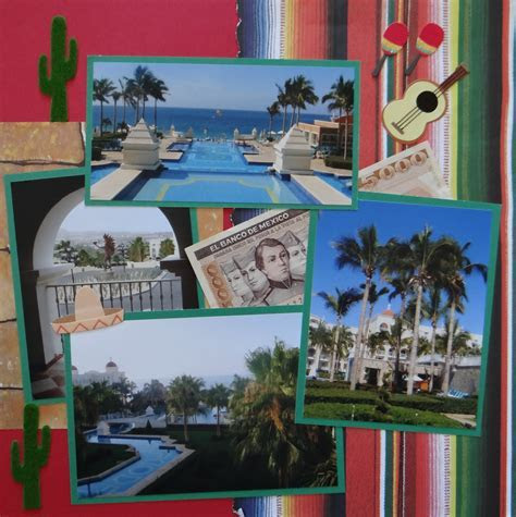 Travel Scrapbook 14   Los Cabos   Me and My Cricut