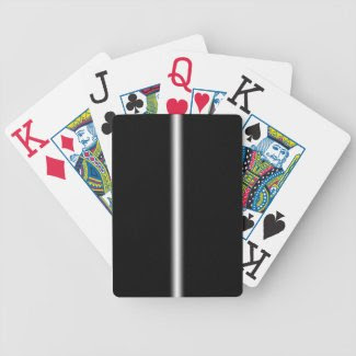 Faded White Stripe on Black Bicycle Playing Cards