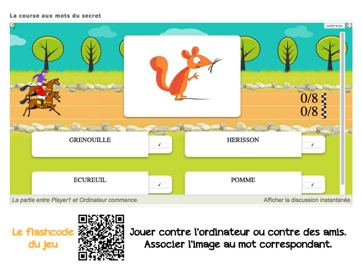 Appli learning apps à partir de l'album Le secret d'Eric Battut