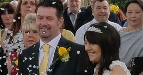 Groom dies of cancer just six weeks after dream wedding to