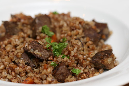 Buckwheat and beef liver / Maksa-tatrahautis