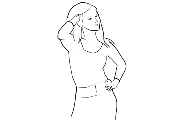 Позирование: позы для женского портрета 1-13