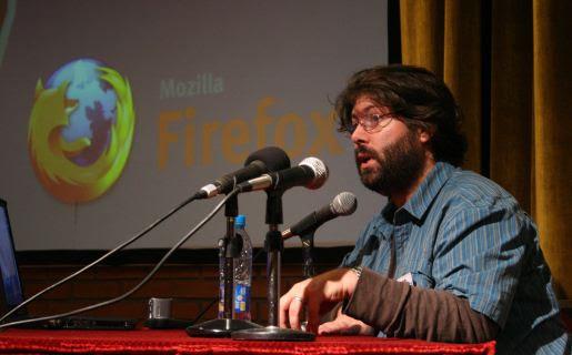 Asa Dotzler en la presentación que realizó en la Argentina en 2007 (foto: Ignacio Bernárdez)