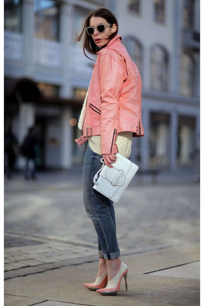Bubble-gum-vintage-jacket-bubble-gum-balenciaga-heels
