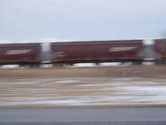 Train from the Interstate