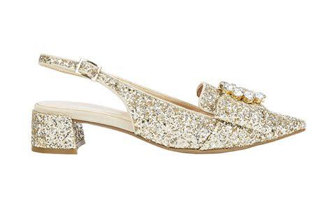 marks spencer  gold glitter shoes