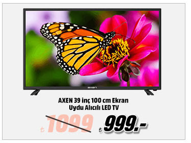 AXEN 39 inç 100 cm Ekran Uydu Alıcılı LED TV 999TL