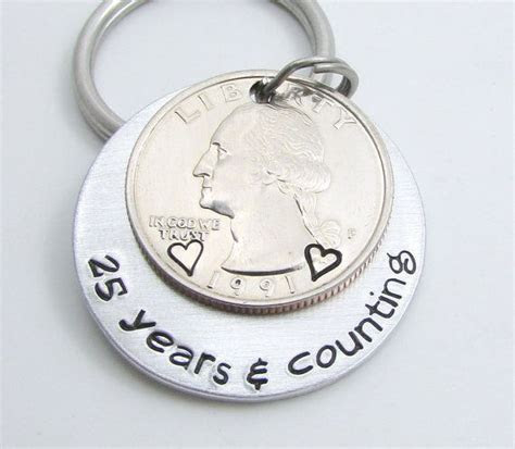 Mens Personalized Anniversary Gift, Personalized KeyChain