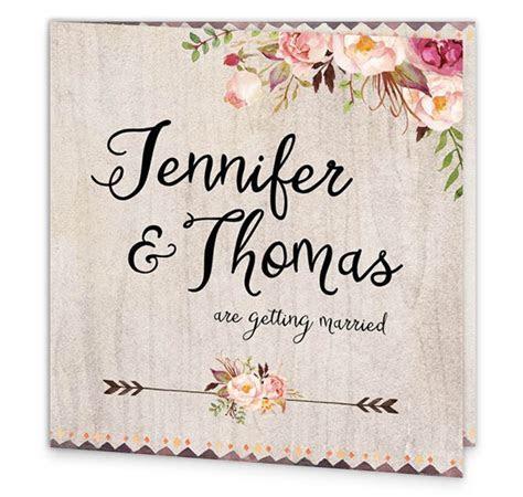 Flowering Affection Folding Wedding Invitation   Loving