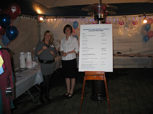 Fiona & Jo Ann at silent auction