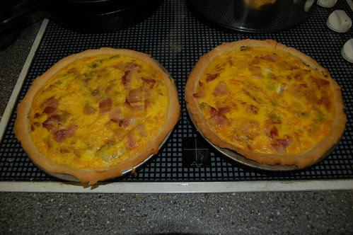 bacon and leek flan Oct 12