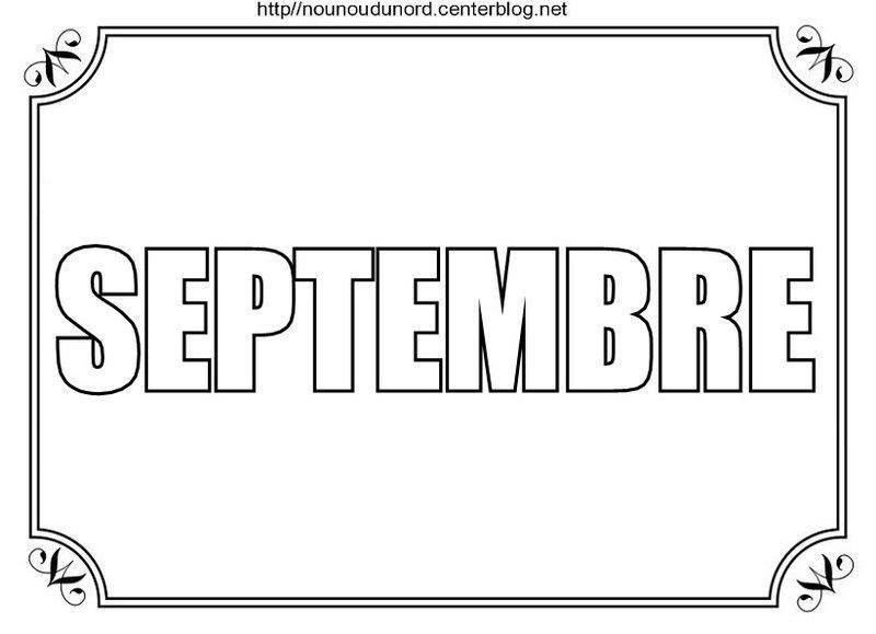 Mois De Septembre à Colorier à Gommettes