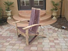 Wine Barrel Adirondack Chair Woodworking Plans By Gold Country Woodworks