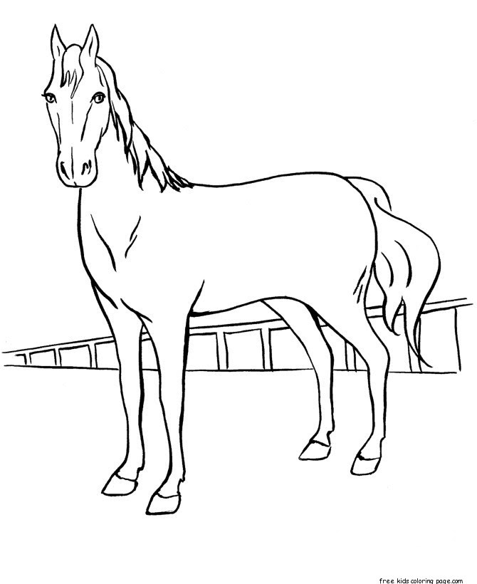 Printable horse racing coloring sheets for kidsFree ...