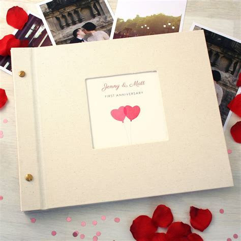 personalised first wedding anniversary photo album by made