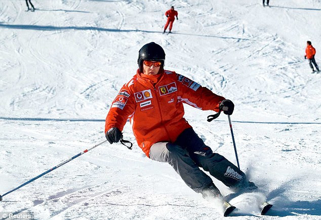 Improvement: Schumacher is in a stable condition after suffering severe head injuries in a skiing accident