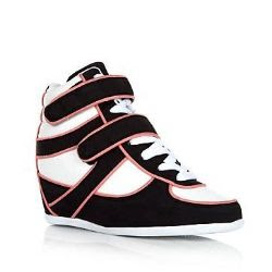 New Look Coral Piped Concealed Wedge Sneakers