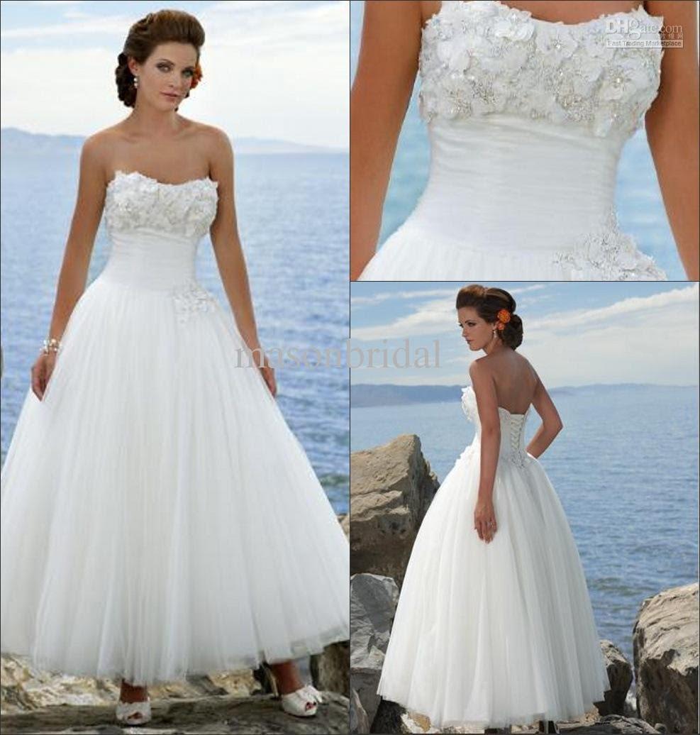 Bridal Gowns For A Beach Wedding: Wedding Trend Ideas: Tropical Beach Wedding Dresses