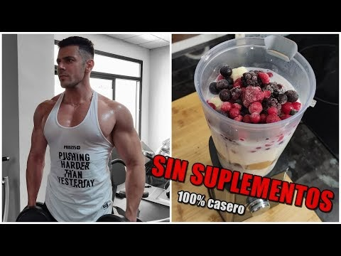 Batido casero para ganar masa muscular | Sin suplementos | Alto en proteínas