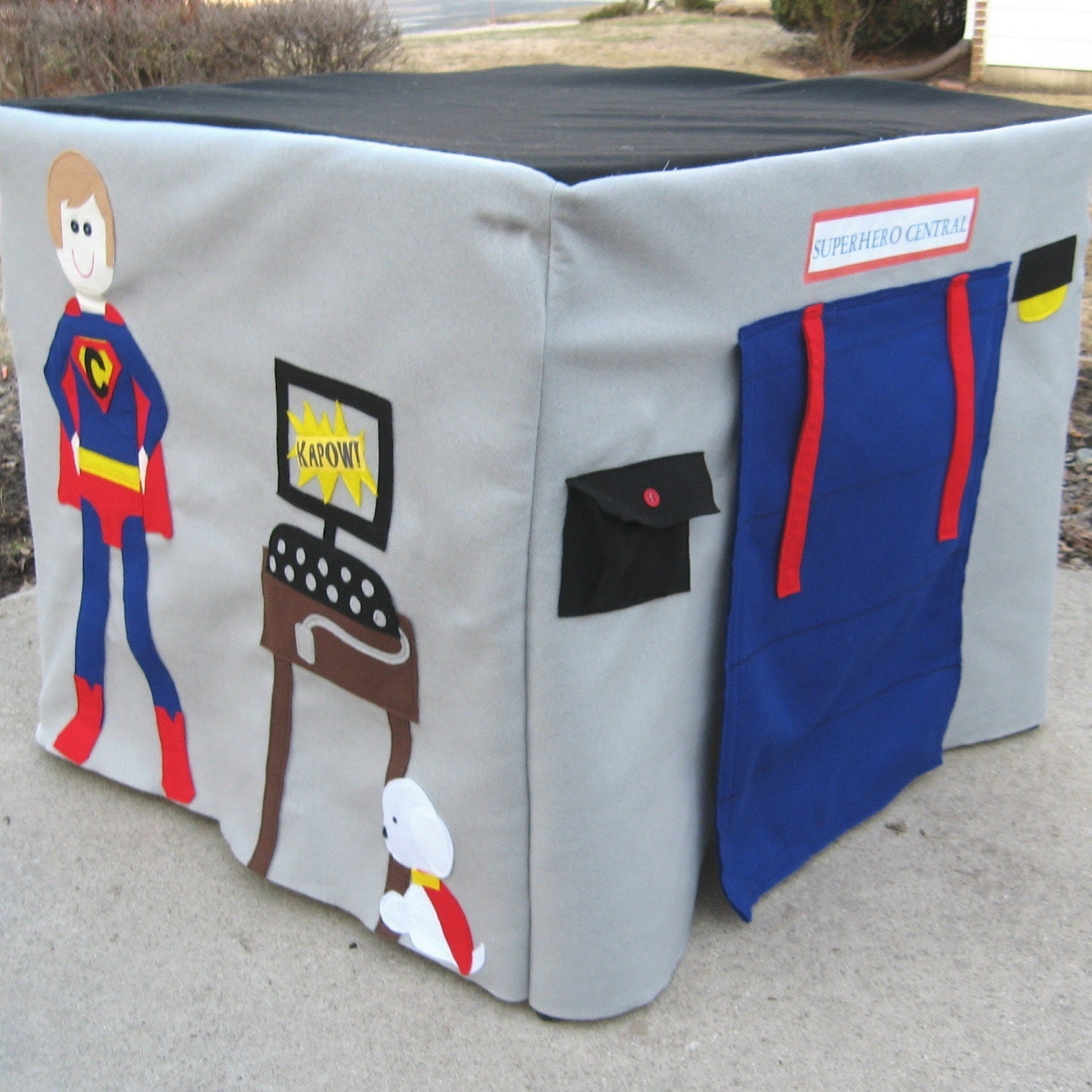 Superhero Card Table Playhouse, Custom Order, Personalized