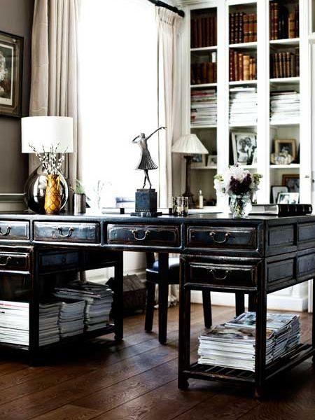 hollywood regency faux bamboo desk