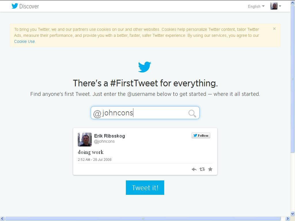 twitter første tweet