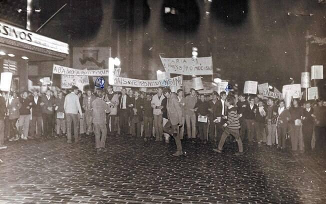 A  repressão perseguiu os líderes estudantis para conter  o avanço do movimento. Foto: Arquivo Brasil Nunca Mais