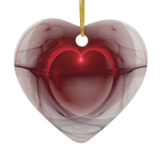 Heart Shaped Lighted Heart ornament