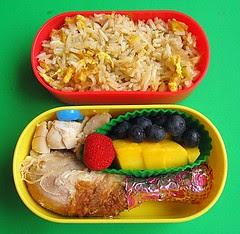 Chicken & fried rice lunch for preschooler