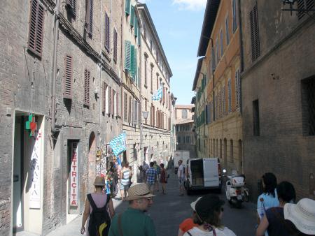 Siena'da ara sokaklar