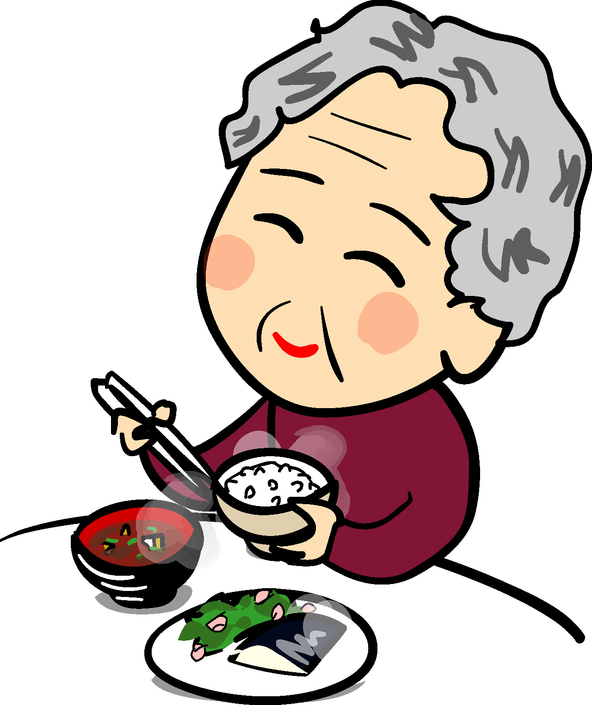 無料イラスト素材素材絵箱印刷用素材 人物食事