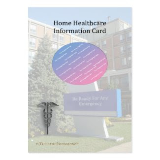 Home Healthcare Info Pocket Picture Card profilecard