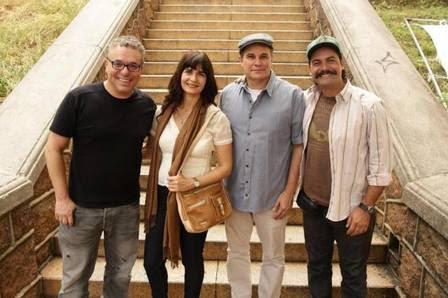 Paulo Nascimento, atriz Soledad Villamil e atores Edson Celulari e Leonardo Machado