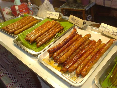 Northern Thai sausages at the market