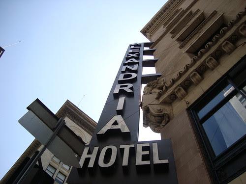 Alexandria Hotel Signage