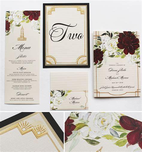 Art Deco Wedding InvitationsMomental Designs