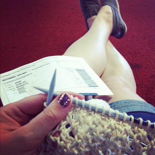 workin' my lace striped sweater